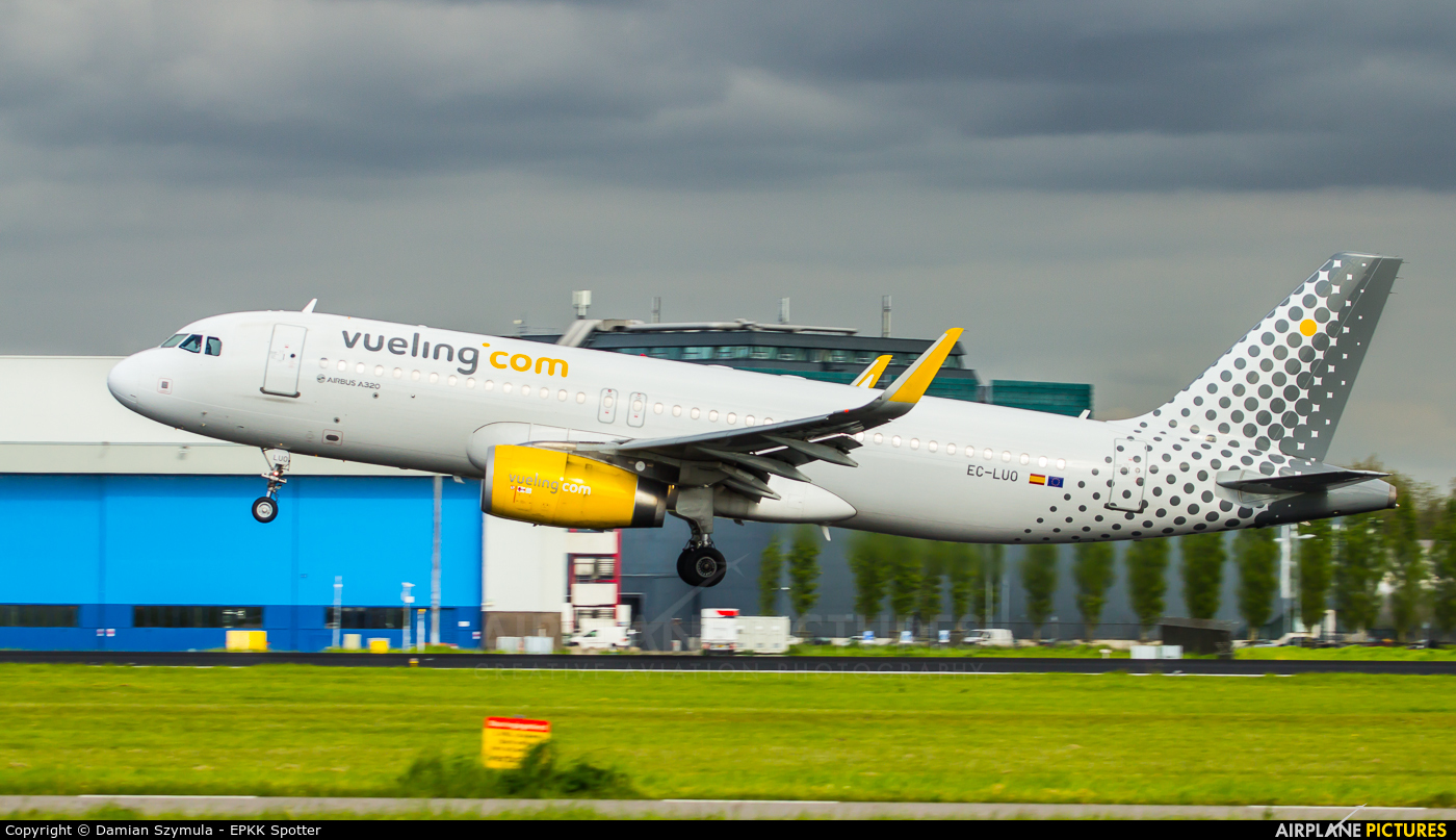 Vueling Airlines EC-LUO aircraft at Amsterdam - Schiphol