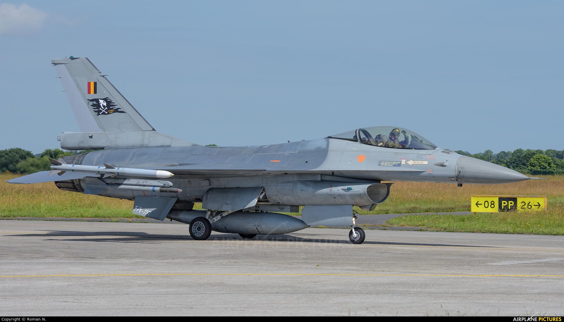 Belgium - Air Force FA-107 aircraft at Landivisiau