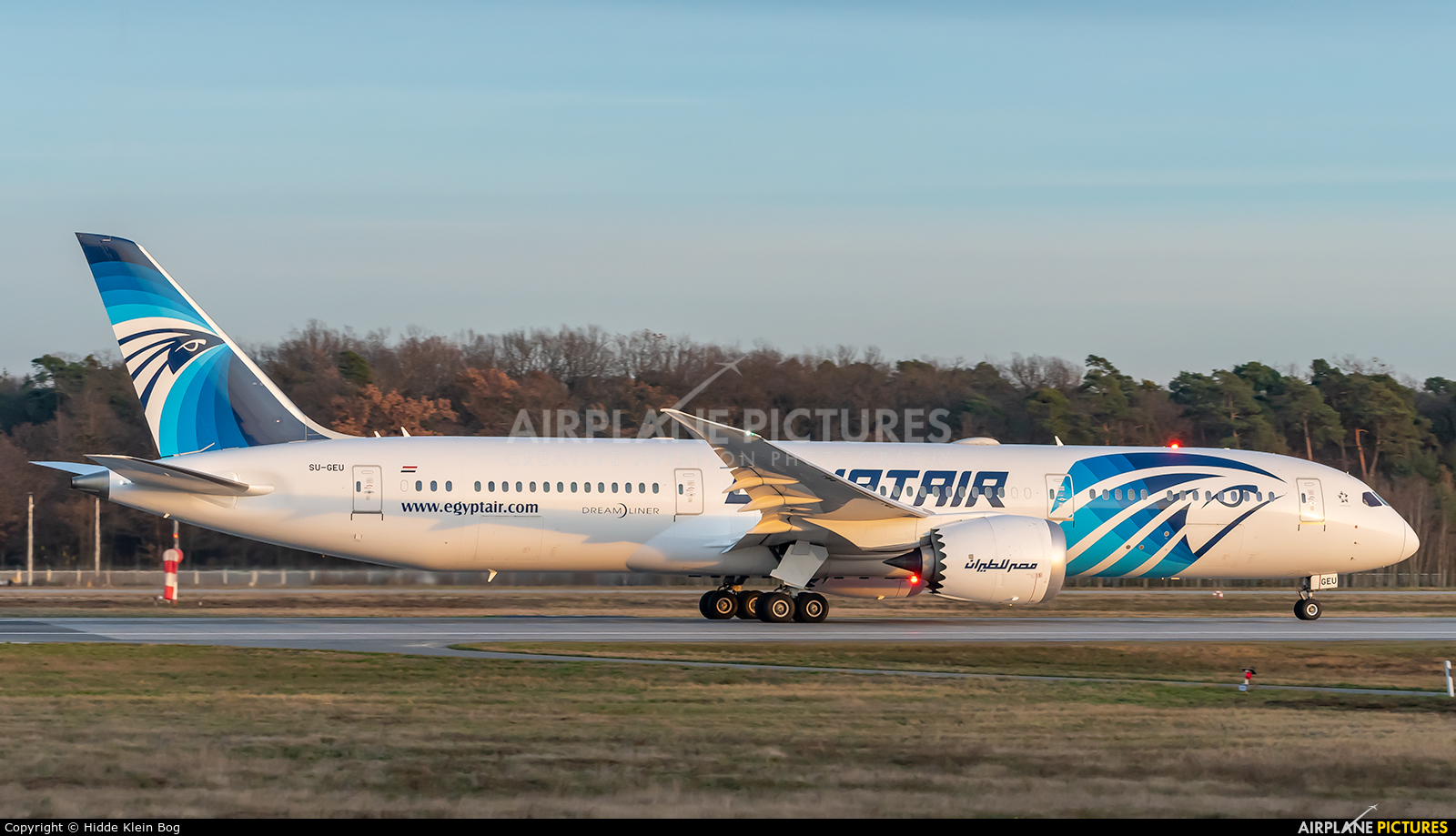 Egyptair SU-GEU aircraft at Frankfurt
