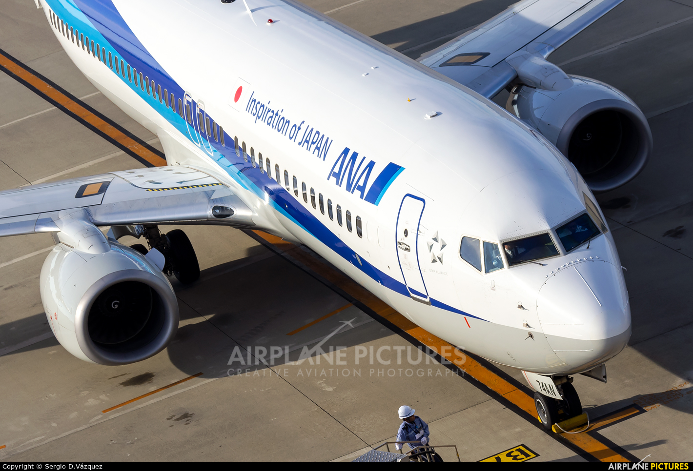 ANA - All Nippon Airways JA84AN aircraft at Chubu Centrair Intl