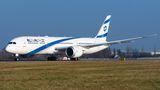 El Al Boeing 787 Dreamliner visited Prague