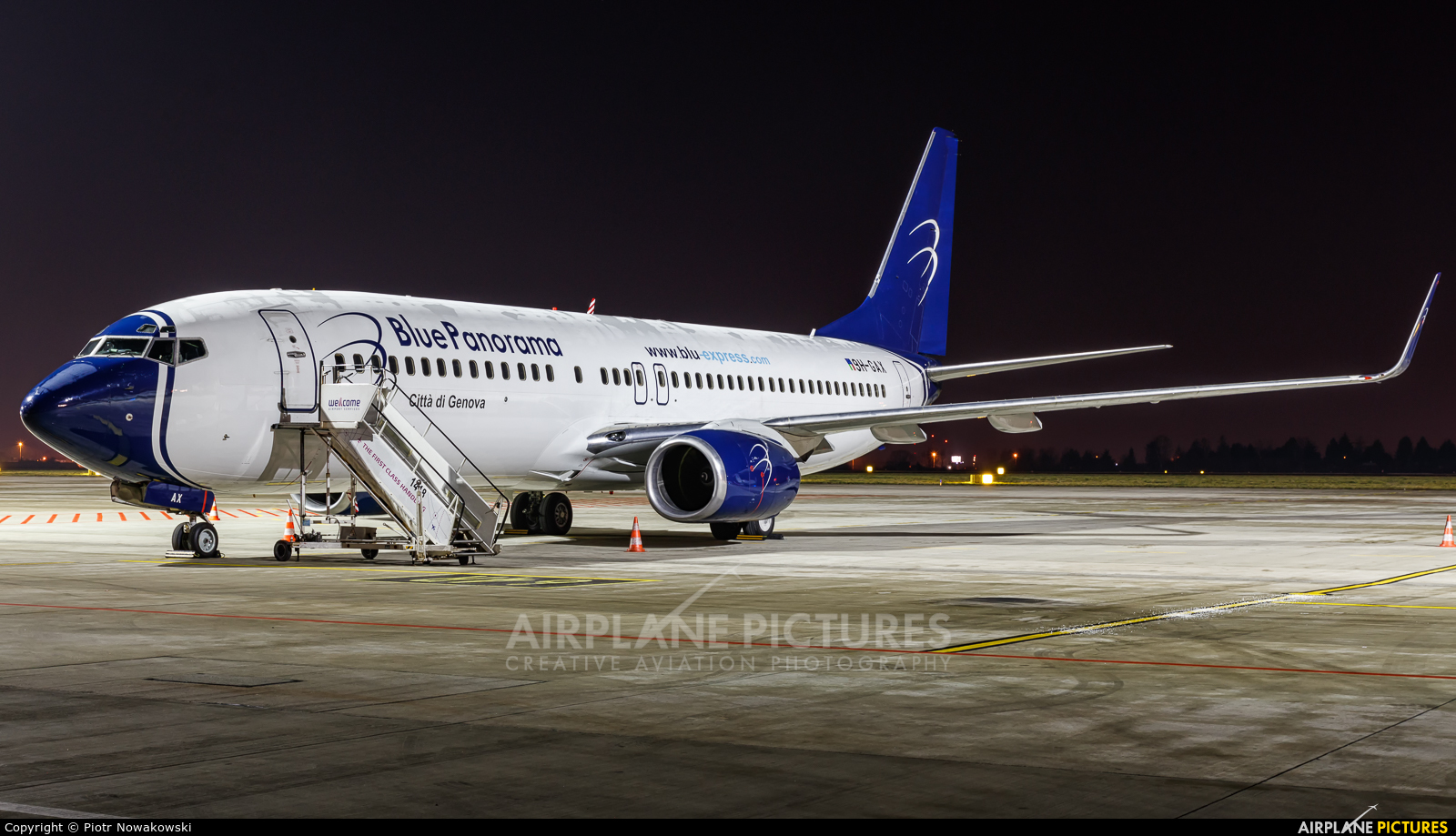 Blue Panorama Airlines 9H-GAX aircraft at Warsaw - Frederic Chopin