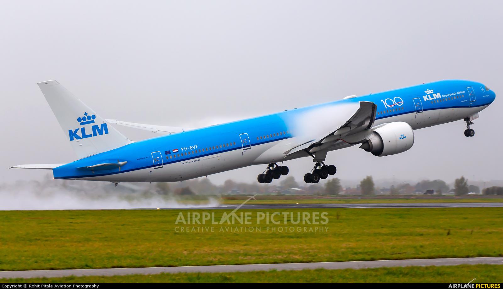 KLM PH-BVF aircraft at Amsterdam - Schiphol