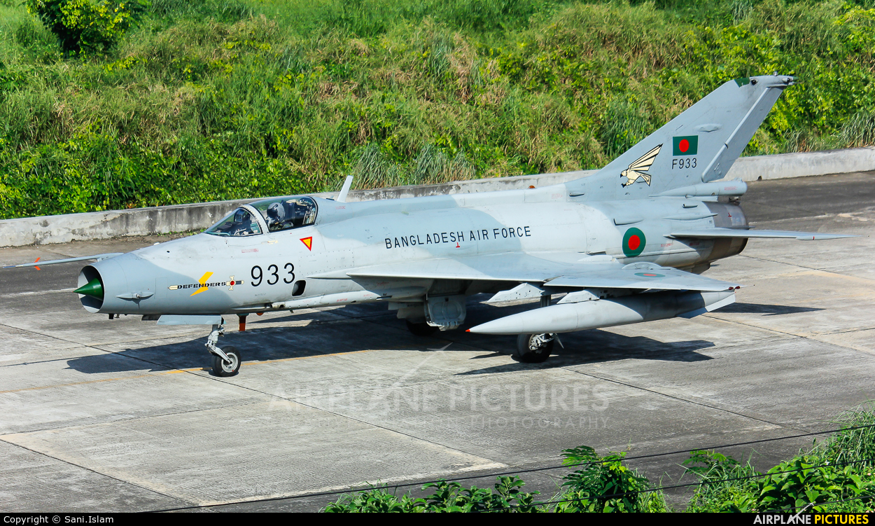 Bangladesh - Air Force F933 aircraft at Dhaka - Hazrat Shahjala Intl