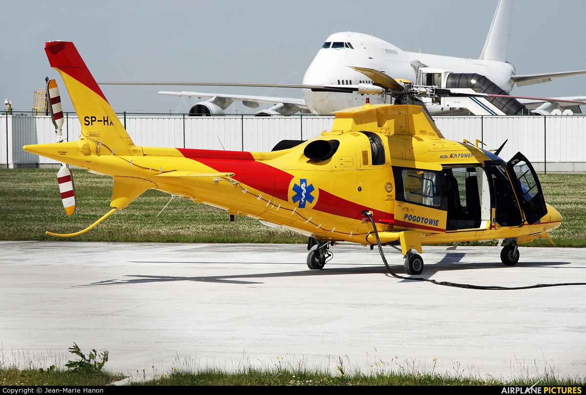 Polish Medical Air Rescue - Lotnicze Pogotowie Ratunkowe SP-HXA aircraft at Liège-Bierset