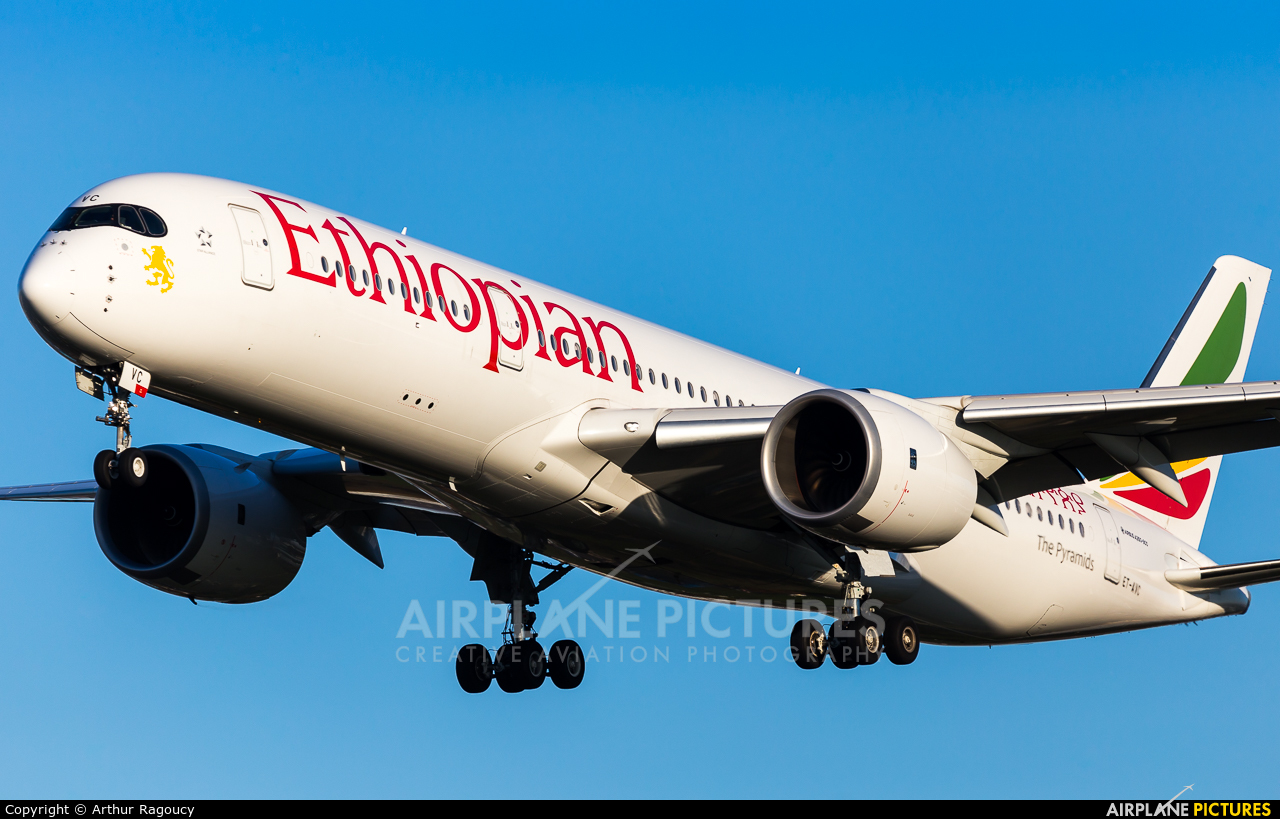 Ethiopian Airlines ET-AVC aircraft at London - Heathrow