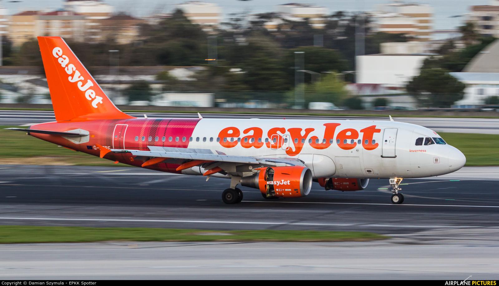 easyJet G-EZBF aircraft at Lisbon