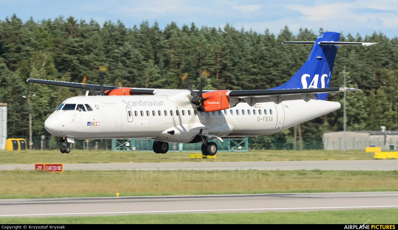SAS - Scandinavian Airlines G-FBXA aircraft at Gdańsk - Lech Wałęsa