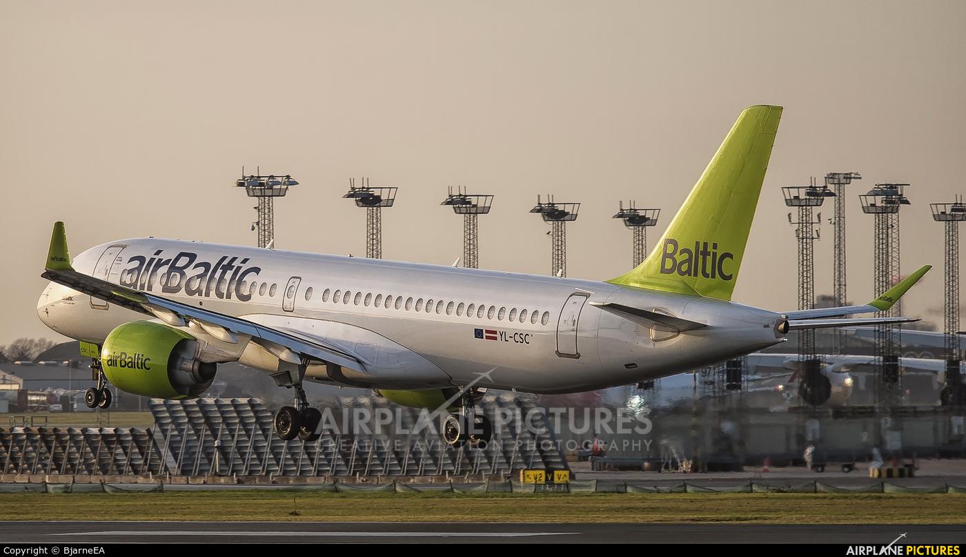 Air Baltic YL-CSC aircraft at Copenhagen Kastrup