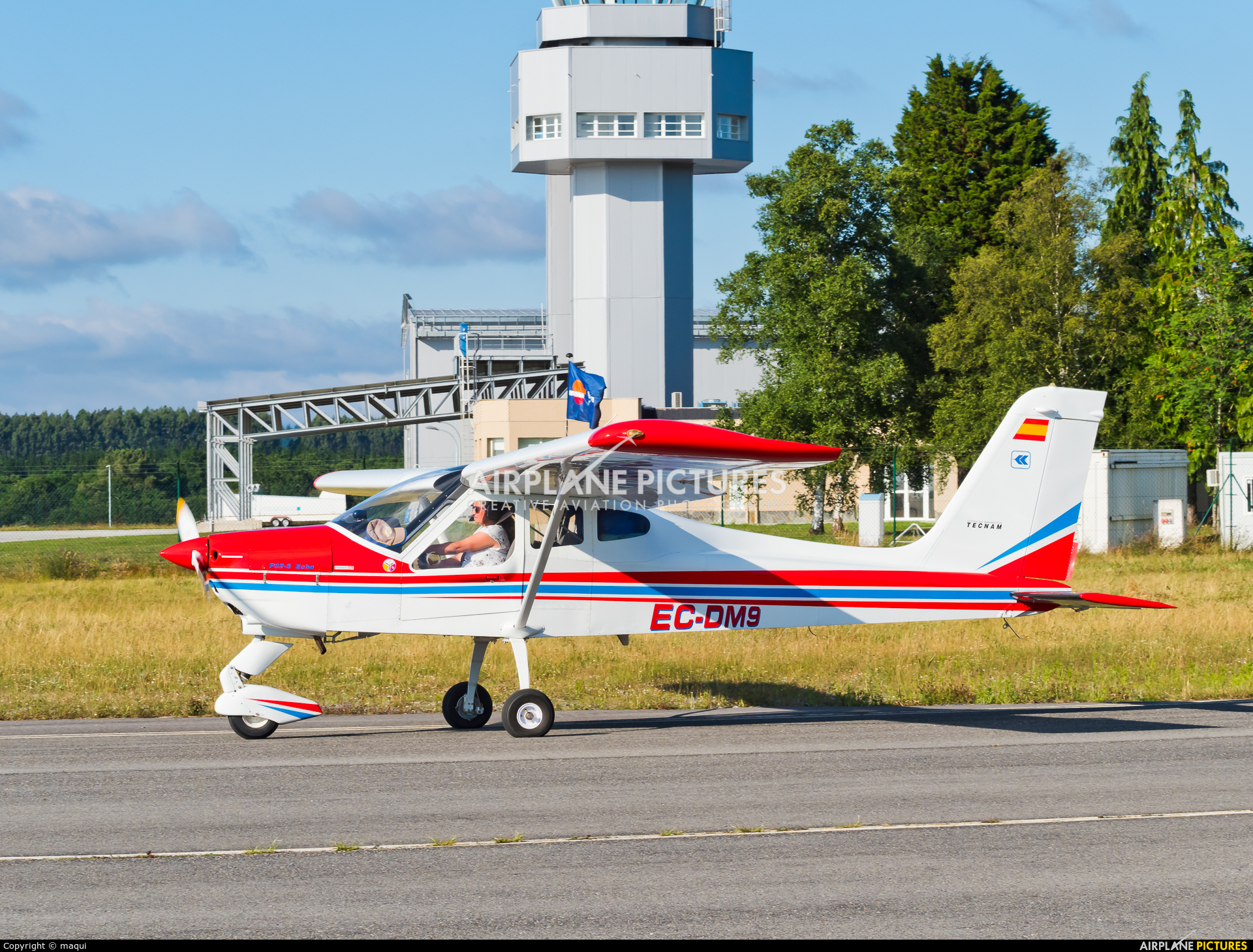 Private EC-DM9 aircraft at Lugo - Rozas