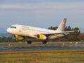 Vueling Airlines Airbus A320 EC-LQN at Santiago de Compostela airport