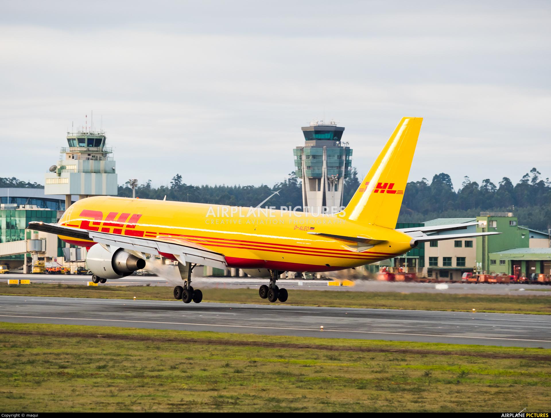 DHL Cargo D-ALEO aircraft at Santiago de Compostela