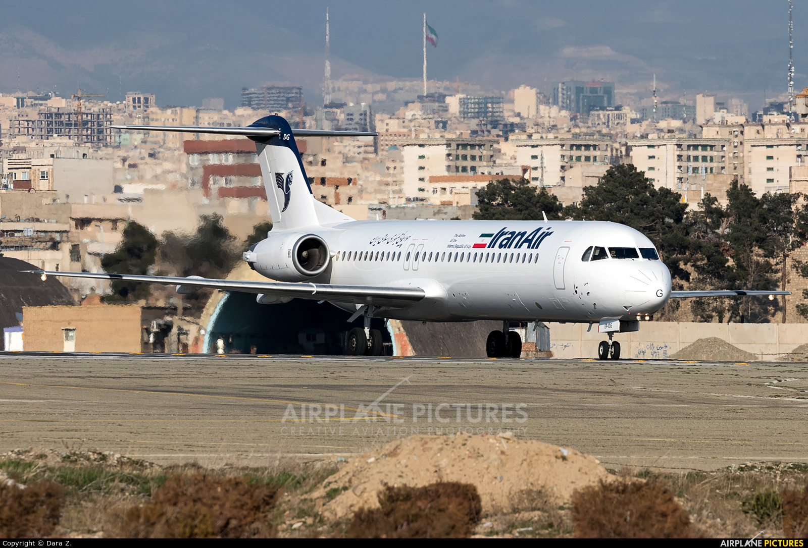 Iran Air EP-IDG aircraft at Tehran - Mehrabad Intl