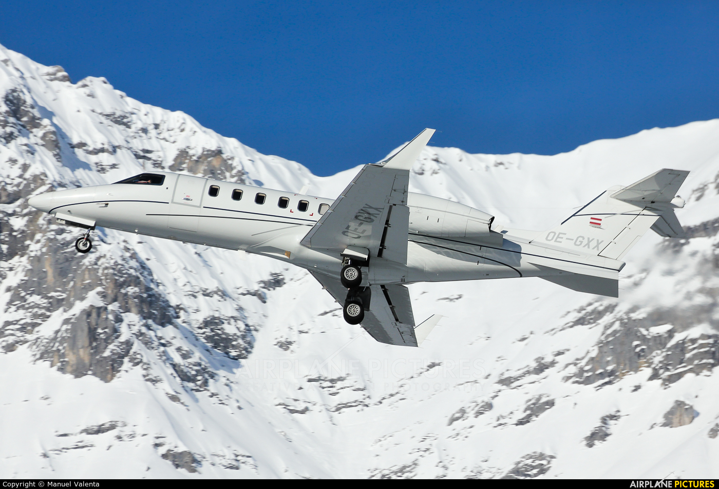 Majestic Executive Aviation OE-GXX aircraft at Innsbruck