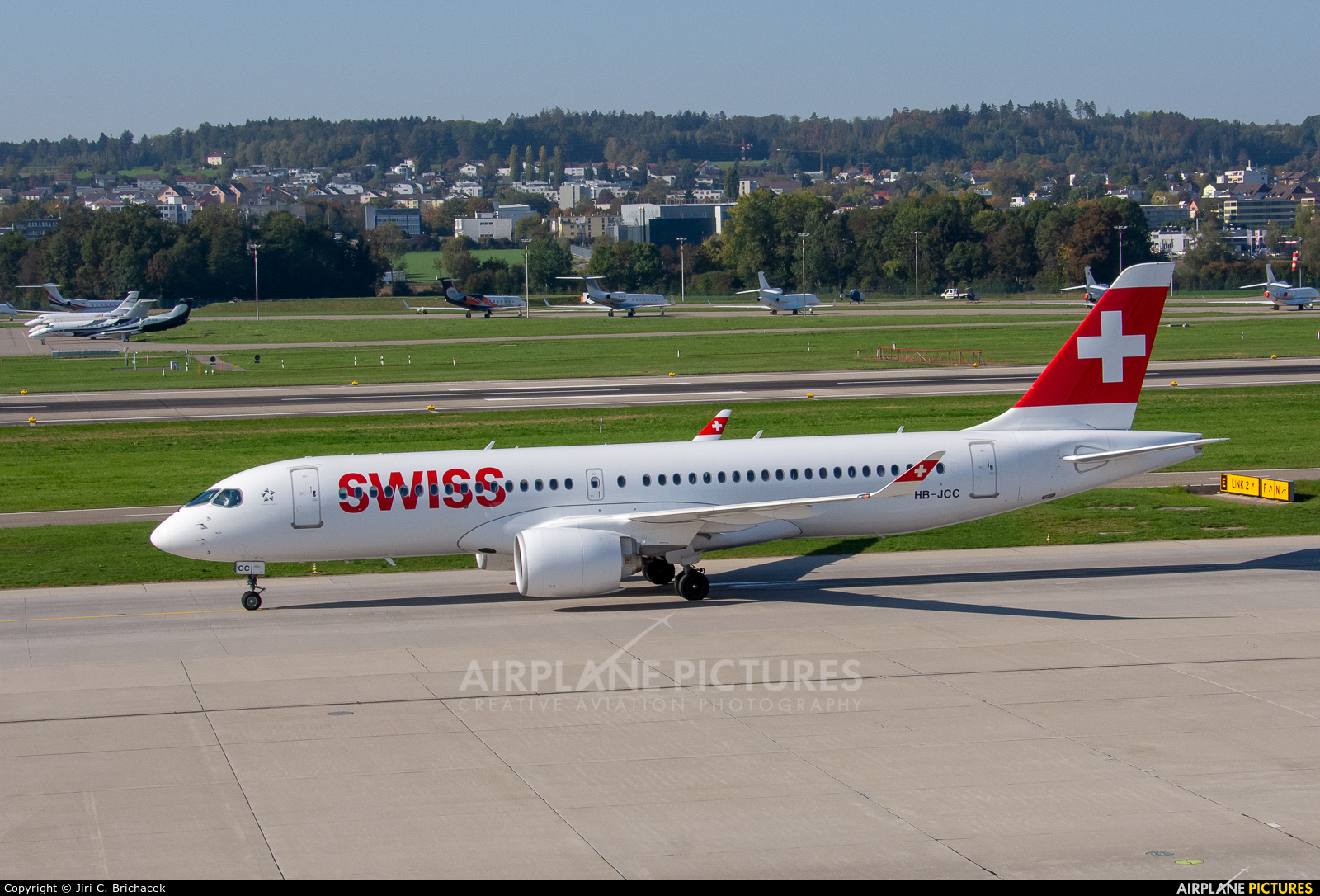 Swiss HB-JCC aircraft at Zurich
