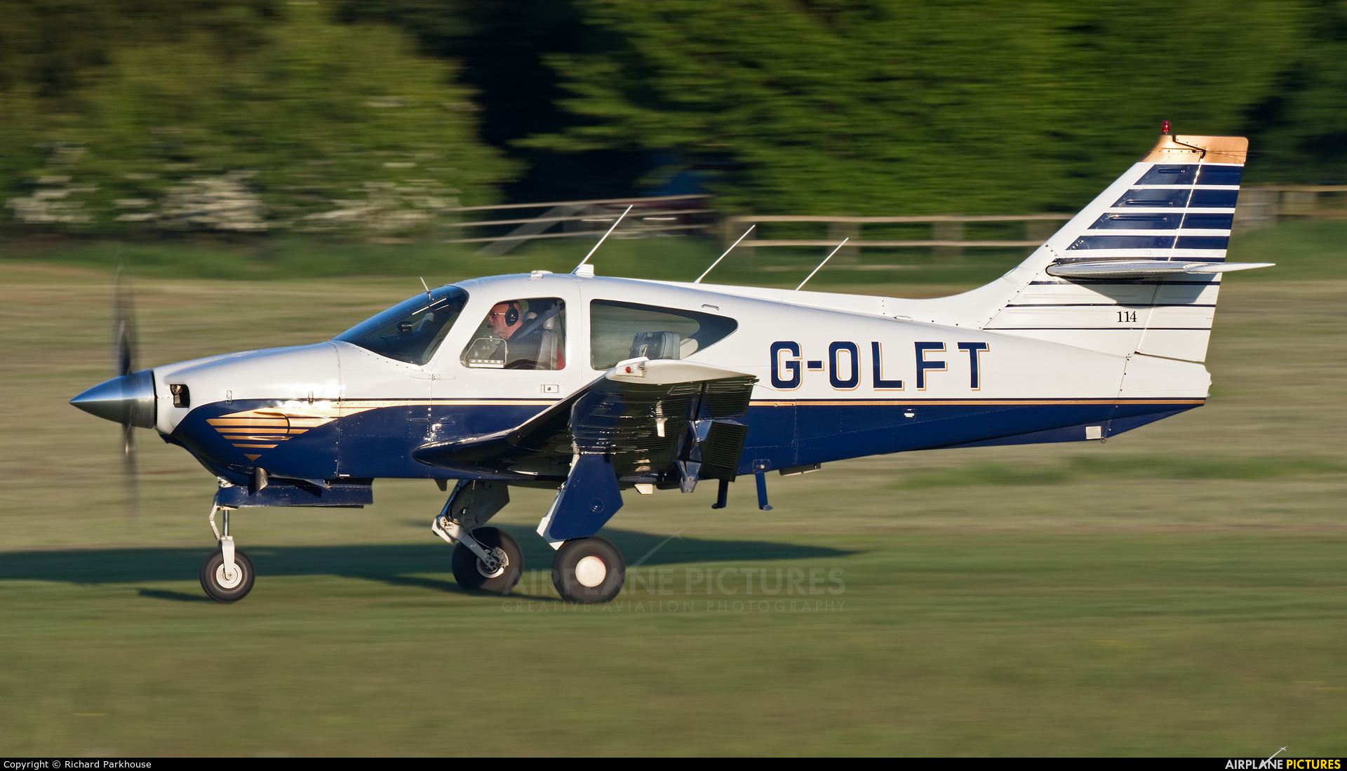 Private G-OLFT aircraft at Old Warden