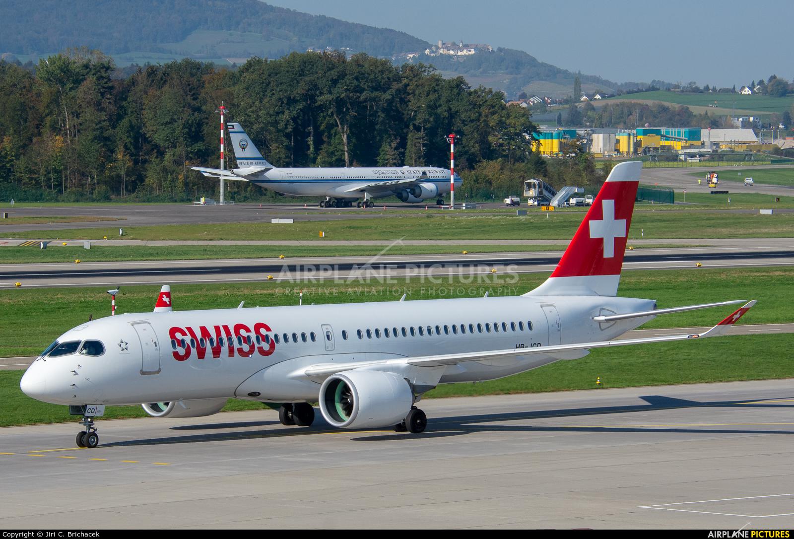 Swiss HB-JCD aircraft at Zurich