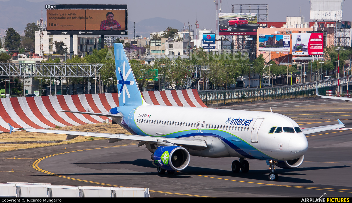 Interjet XA-ECO aircraft at Mexico City - Licenciado Benito Juarez Intl