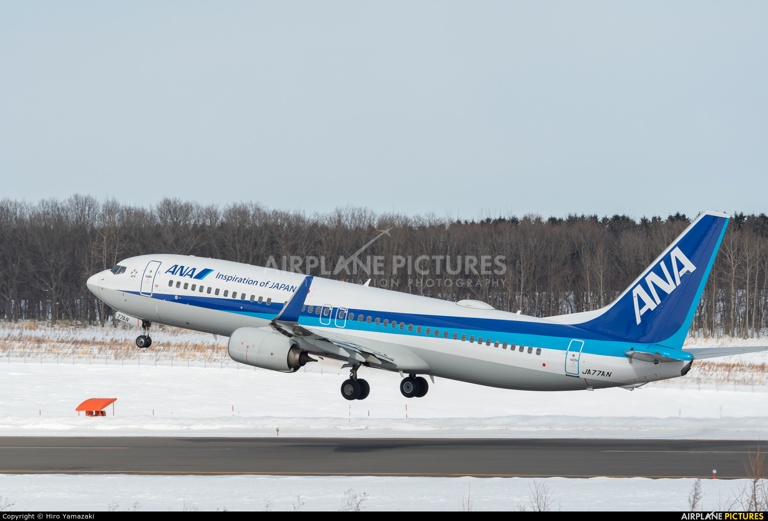 ANA - All Nippon Airways JA77AN aircraft at Okhotk Monbetsu
