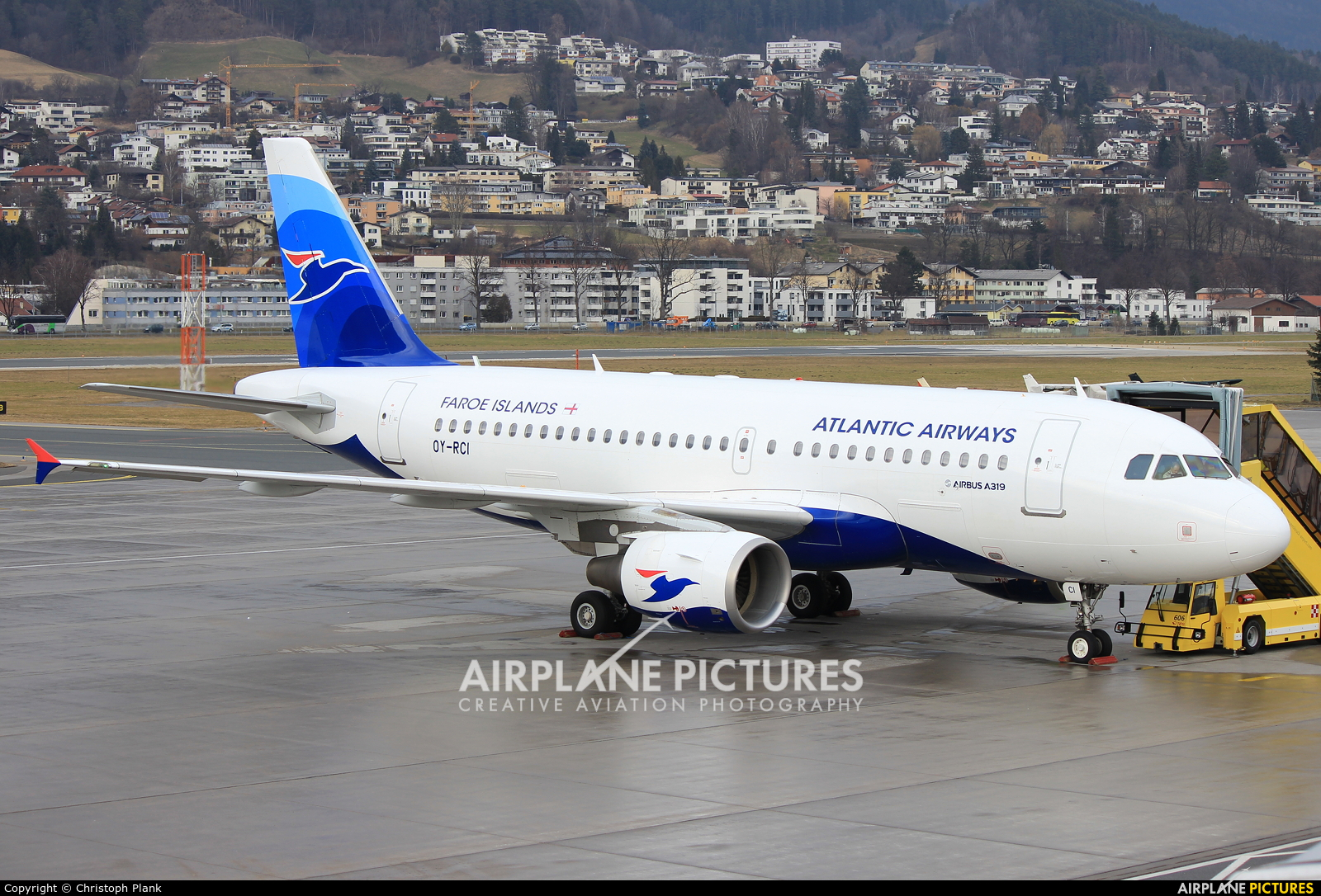 Atlantic Airways OY-RCI aircraft at Innsbruck
