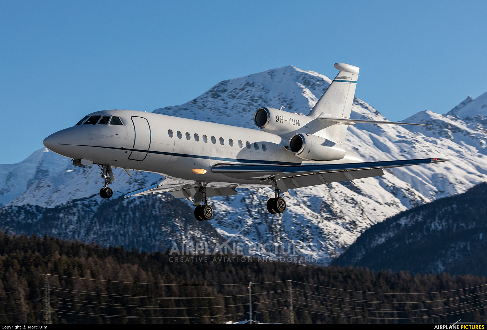 TAG Aviation 9H-YUM aircraft at Samedan - Engadin