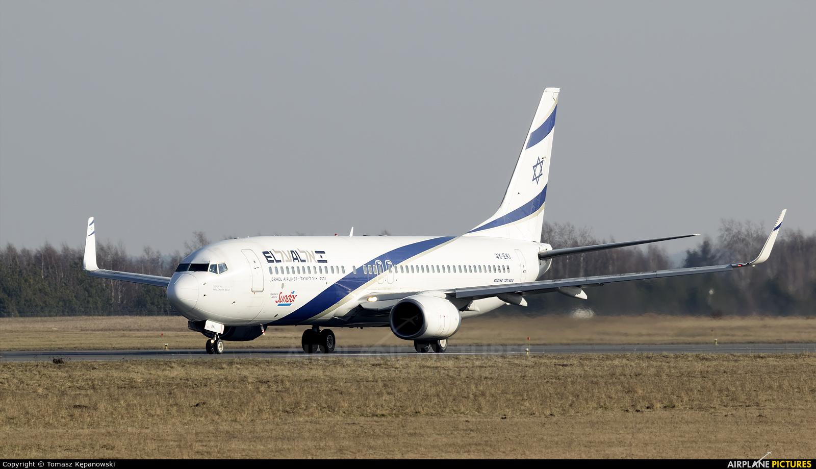El Al Israel Airlines 4X-EKI aircraft at Rzeszów-Jasionka