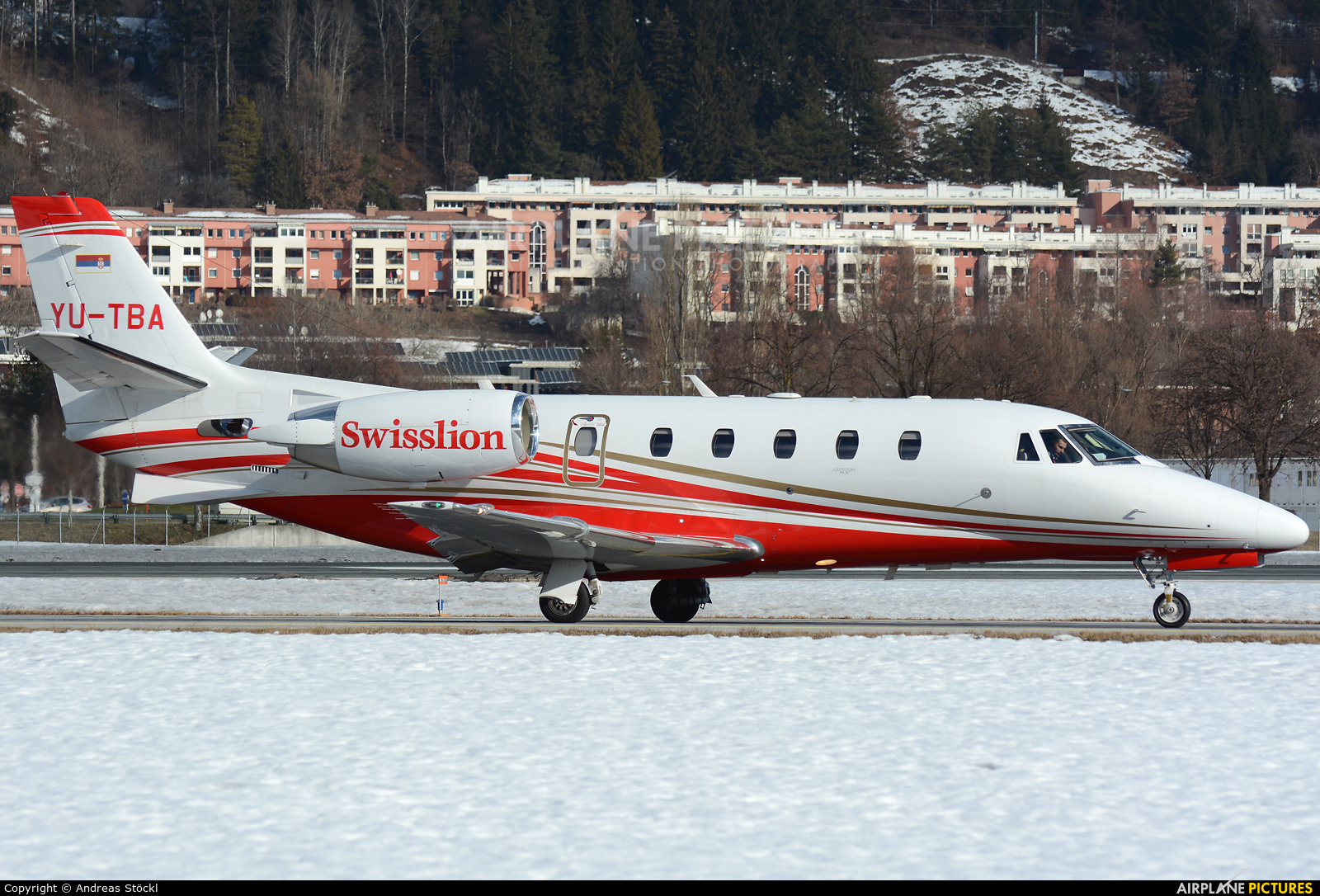 YU-TBA aircraft at Innsbruck