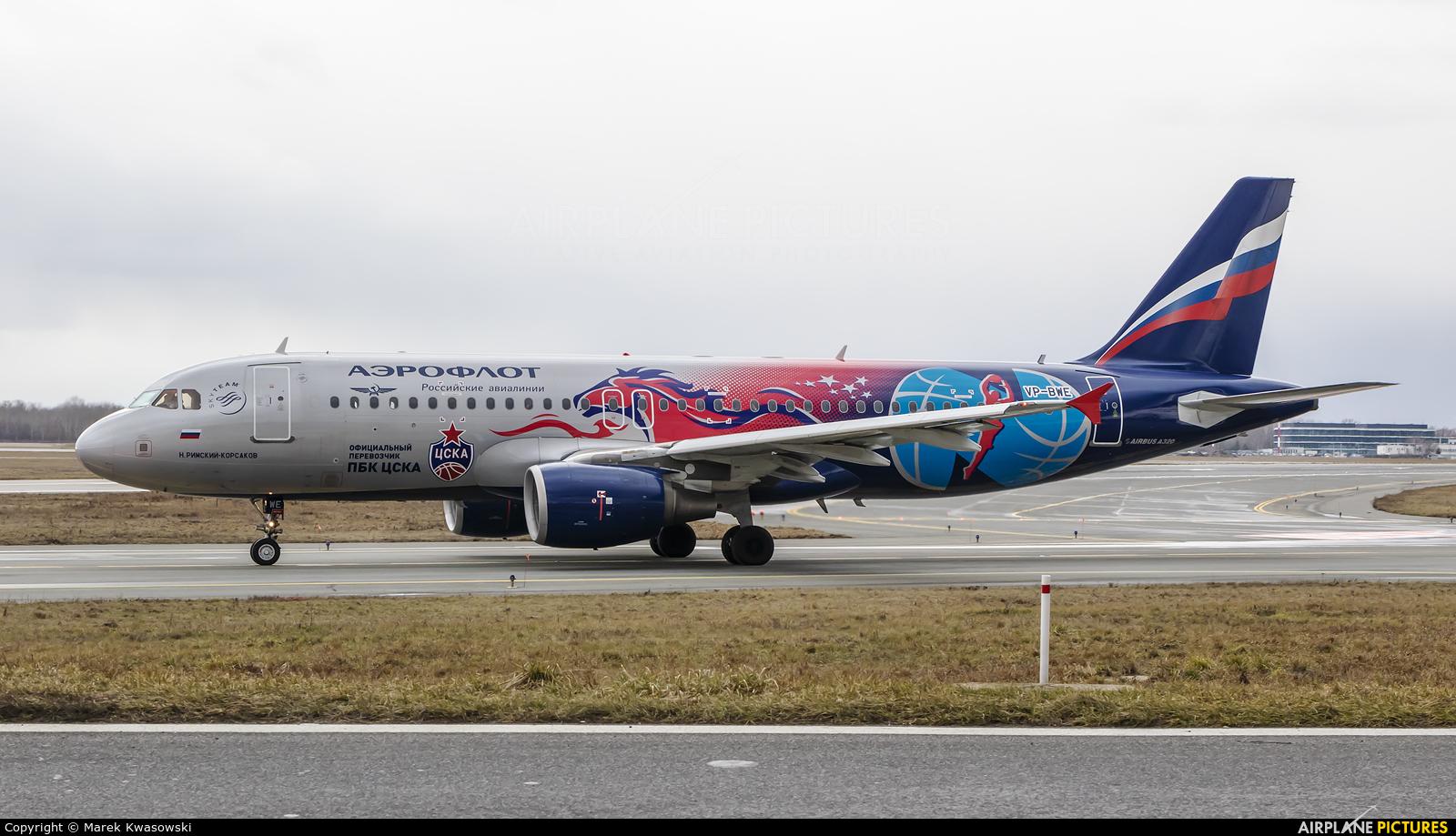 Aeroflot VP-BWE aircraft at Warsaw - Frederic Chopin