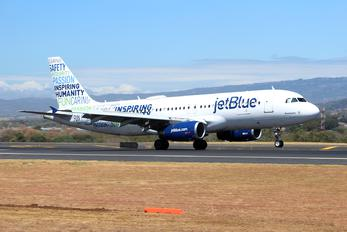 N598JB - JetBlue Airways Airbus A320