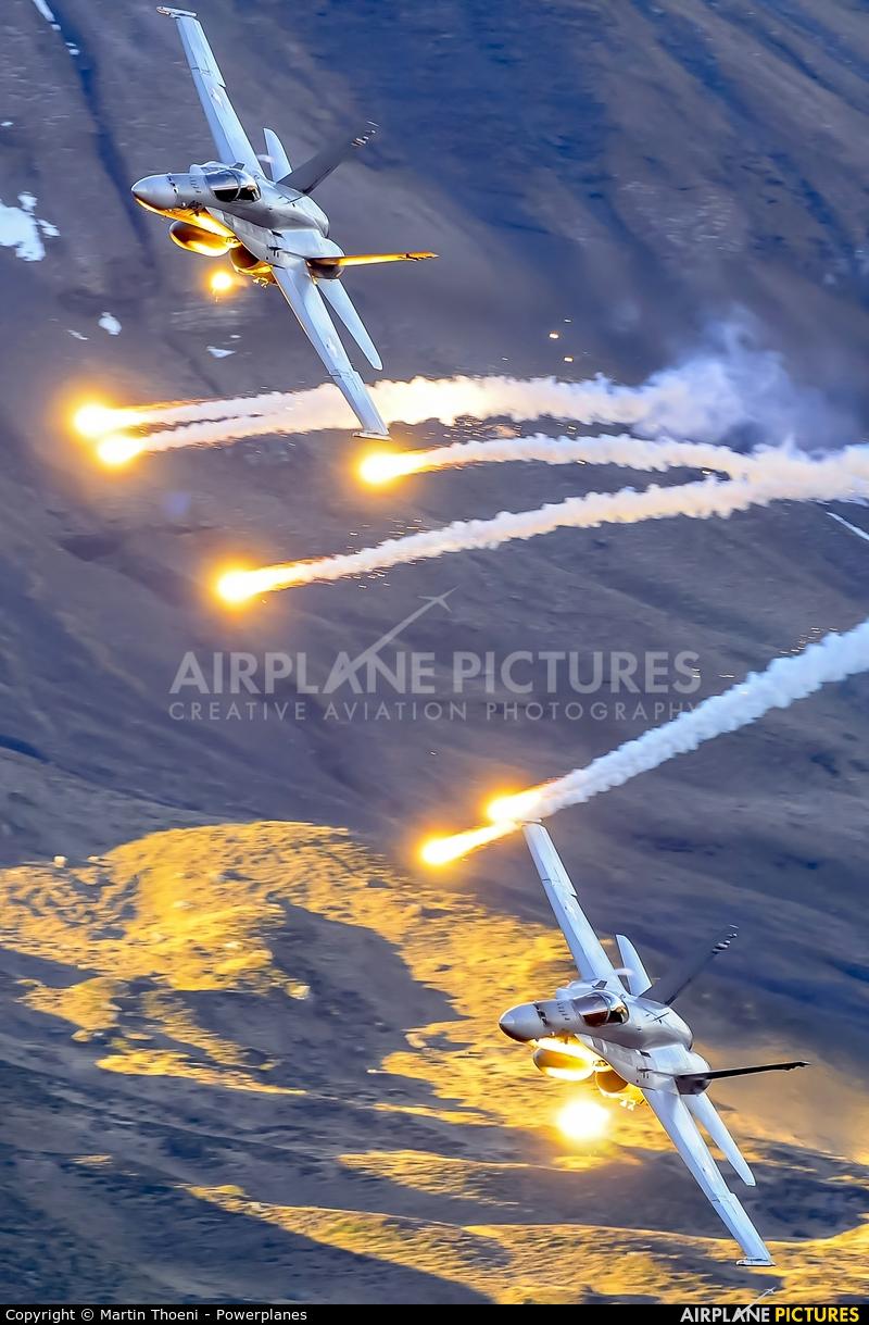 Switzerland - Air Force J-5025 aircraft at Axalp - Ebenfluh Range