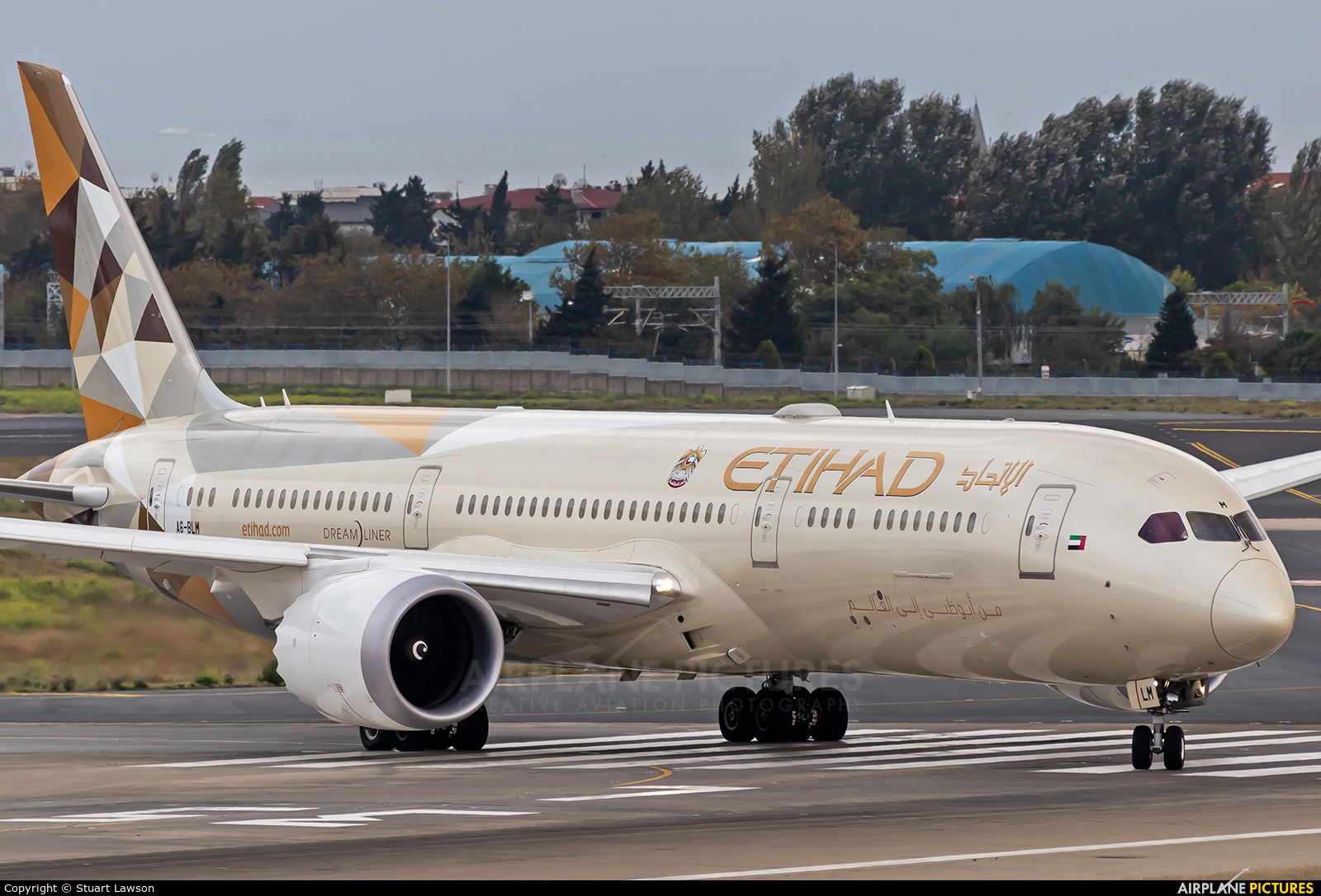 Etihad Airways A6-BLM aircraft at Istanbul - Ataturk