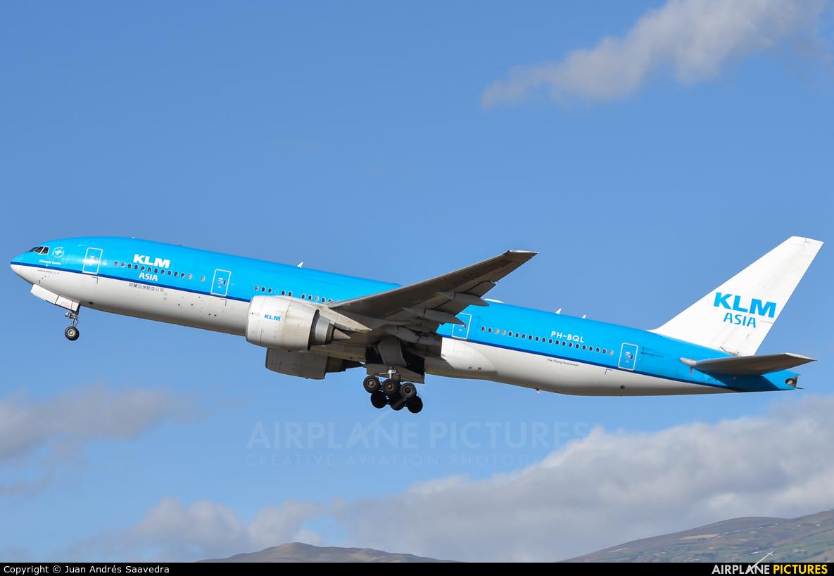 KLM Asia PH-BQL aircraft at Quito - Mariscal Sucre