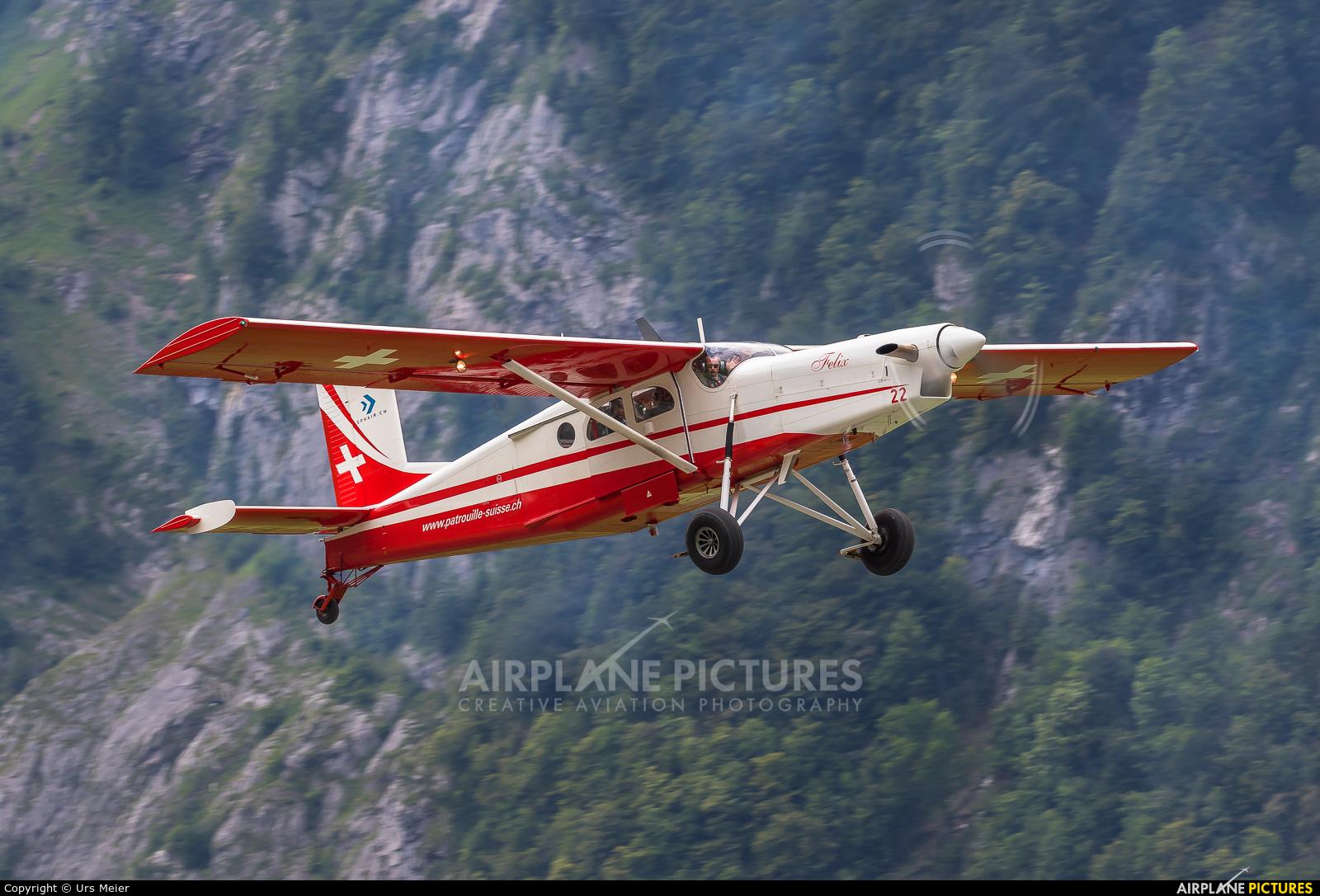 Switzerland - Air Force:  Patrouille de Suisse V-622 aircraft at Mollis