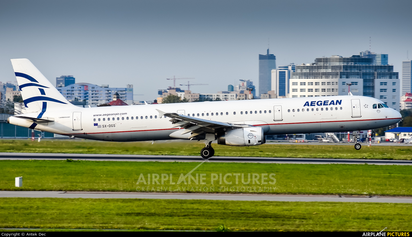 Aegean Airlines SX-DGS aircraft at Warsaw - Frederic Chopin