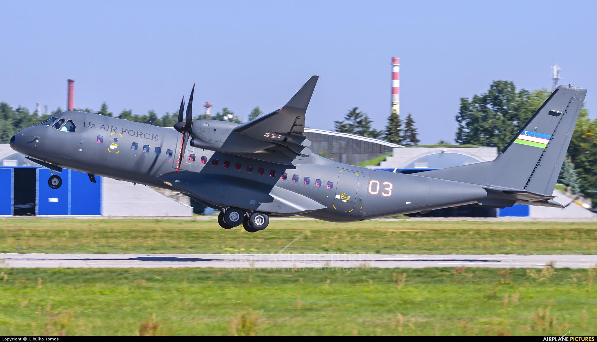 Uzbekistan Air Force 03 aircraft at Pardubice