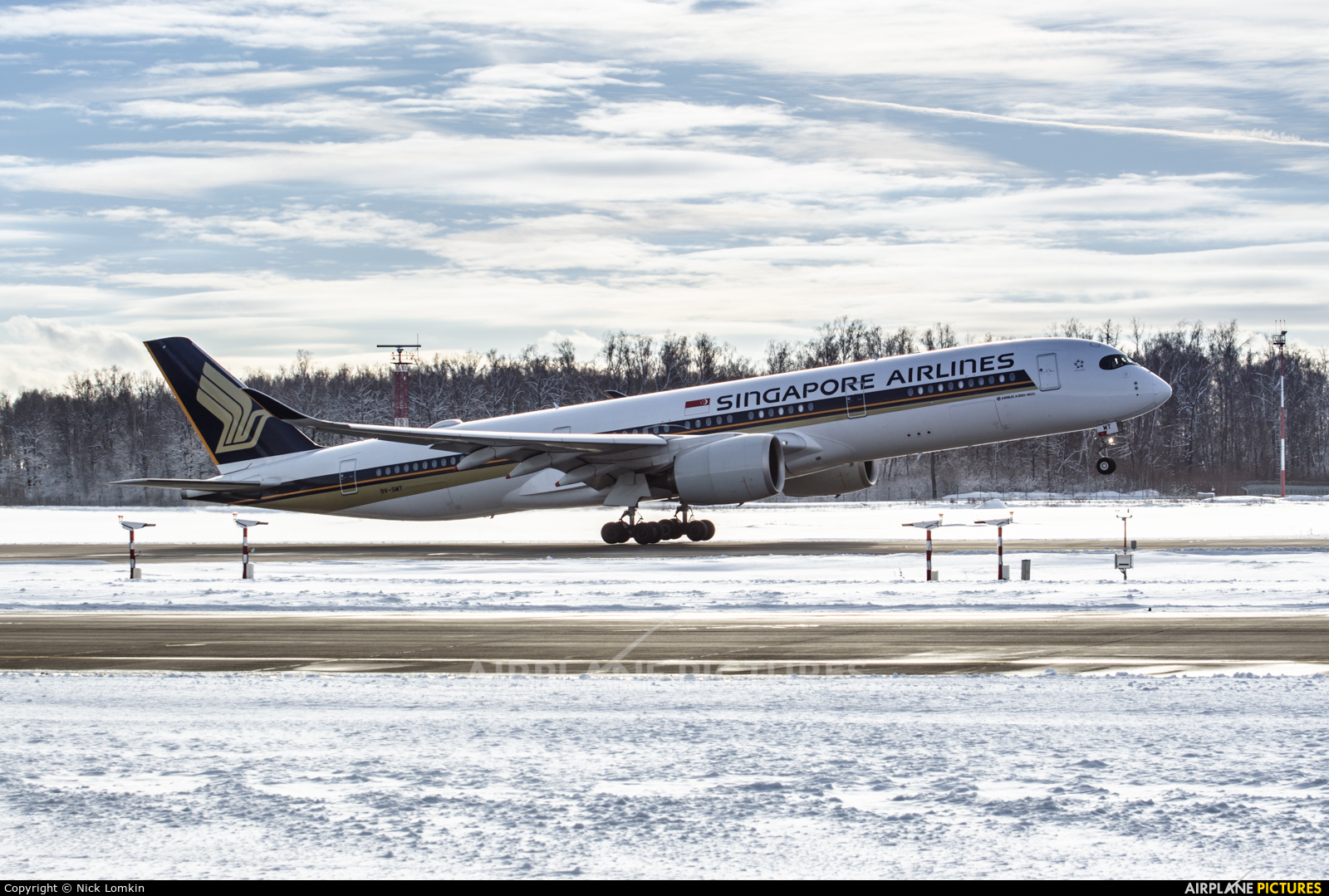 Singapore Airlines 9V-SMT aircraft at Moscow - Domodedovo