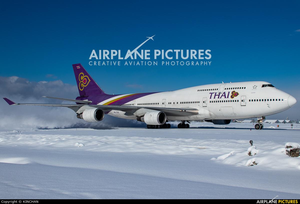 Thai Airways HS-TGO aircraft at New Chitose