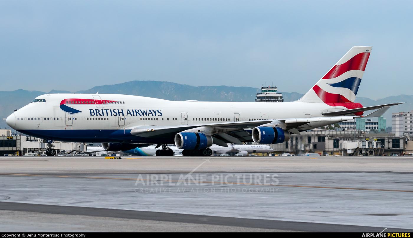 British Airways G-BYGC aircraft at Los Angeles Intl
