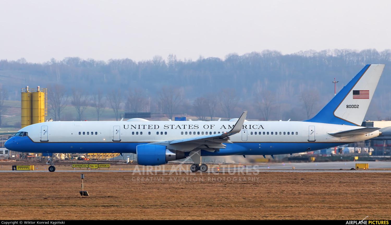 USA - Air Force 98-0002 aircraft at Kraków - John Paul II Intl