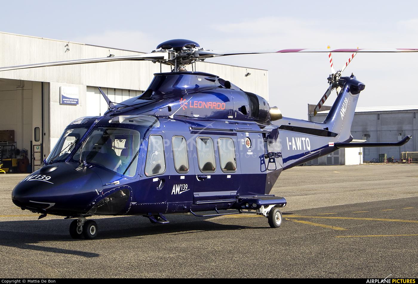 Leonardo I-AWTQ aircraft at Reggio Emilia