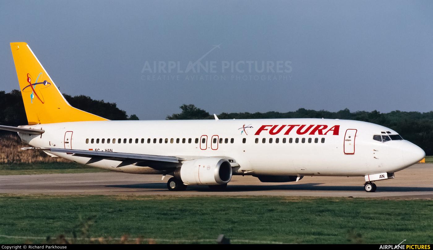 Futura International Airways EC-HAN aircraft at London - Gatwick