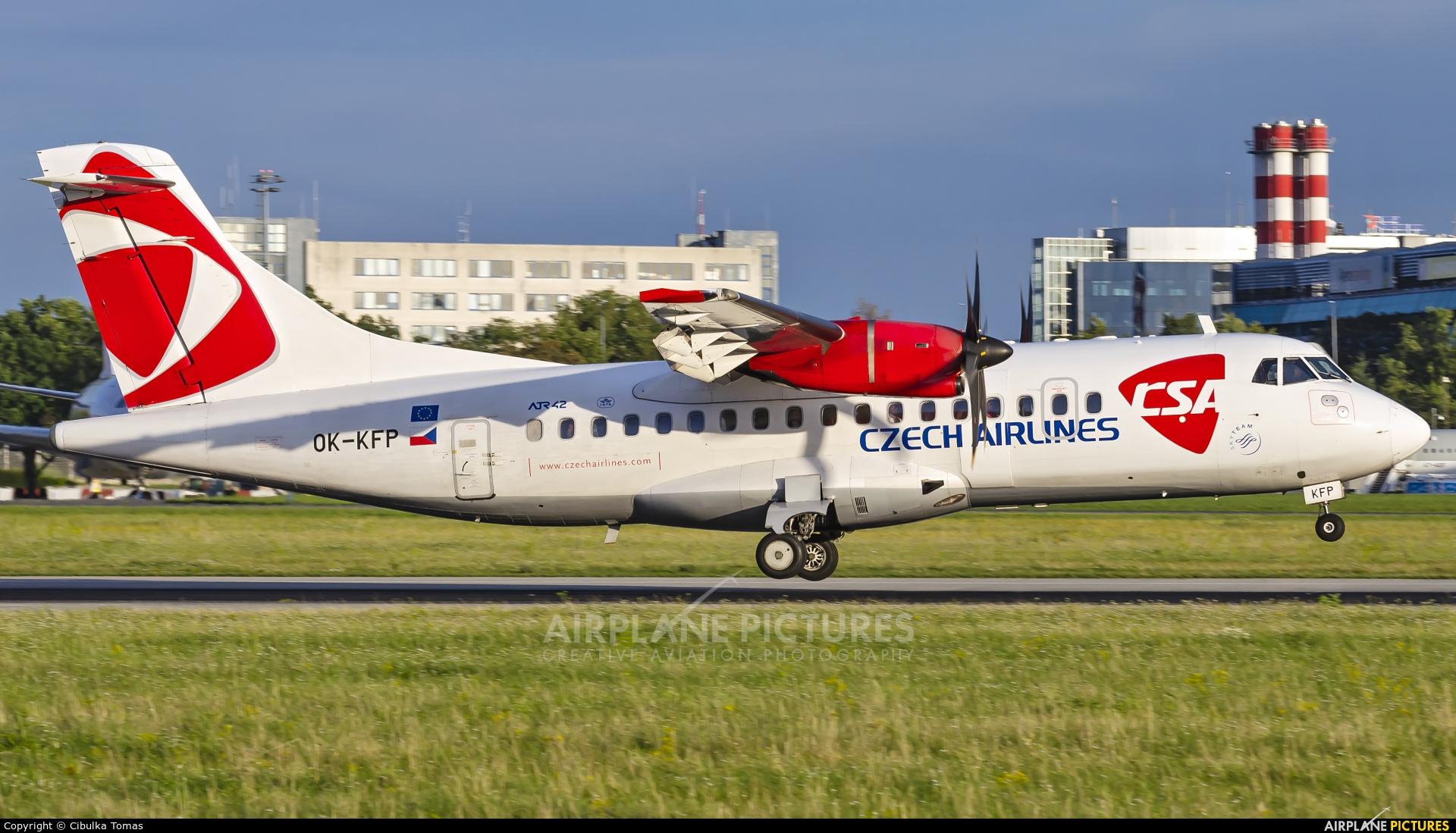 CSA - Czech Airlines OK-KFP aircraft at Prague - Václav Havel