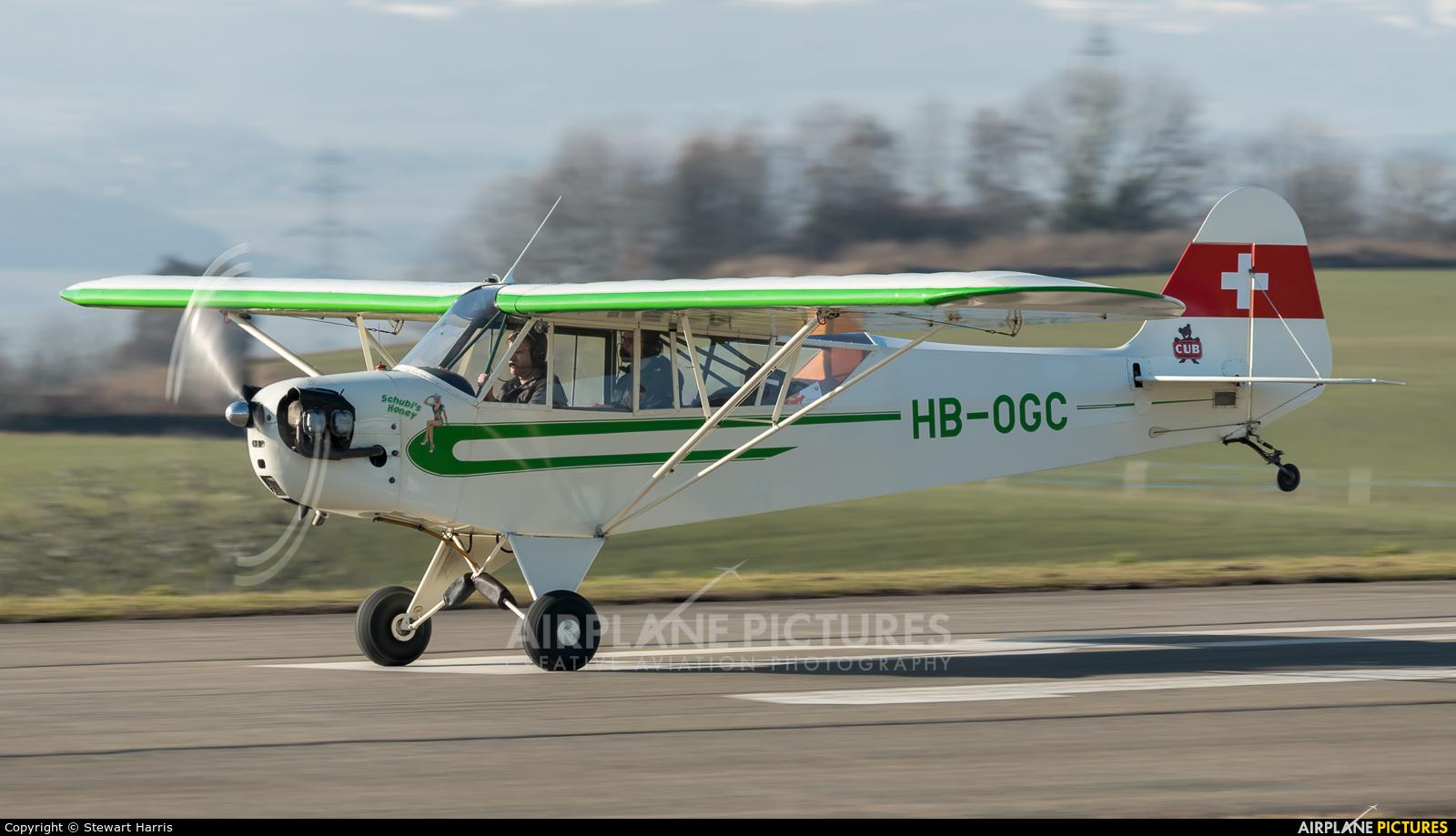 Private HB-OGC aircraft at Lausanne - La Blécherette