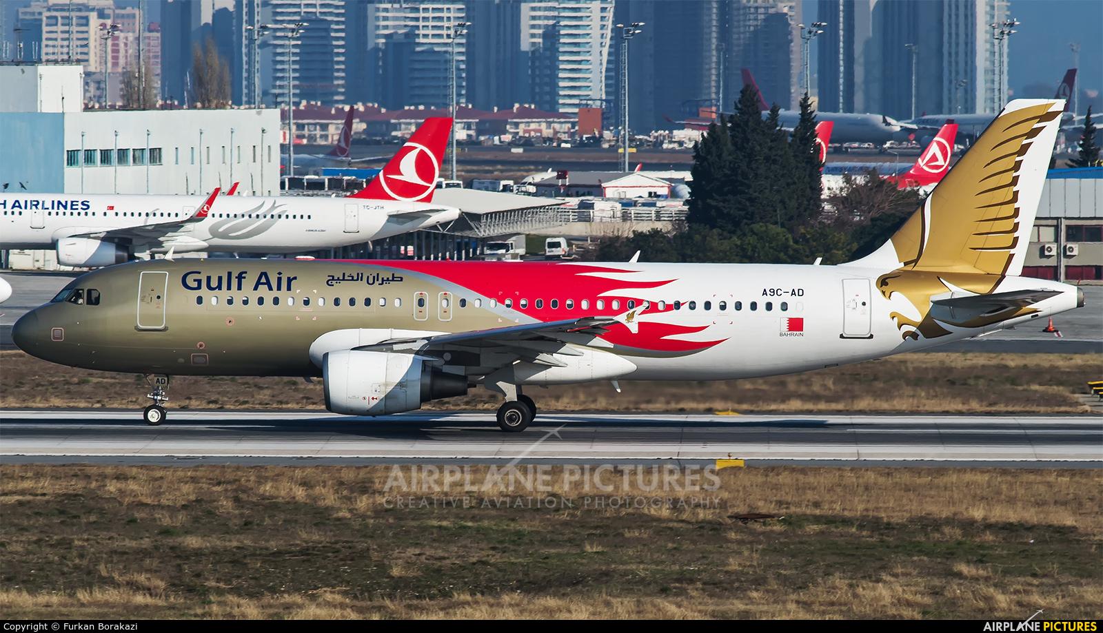 Gulf Air A9C-AD aircraft at Istanbul - Ataturk