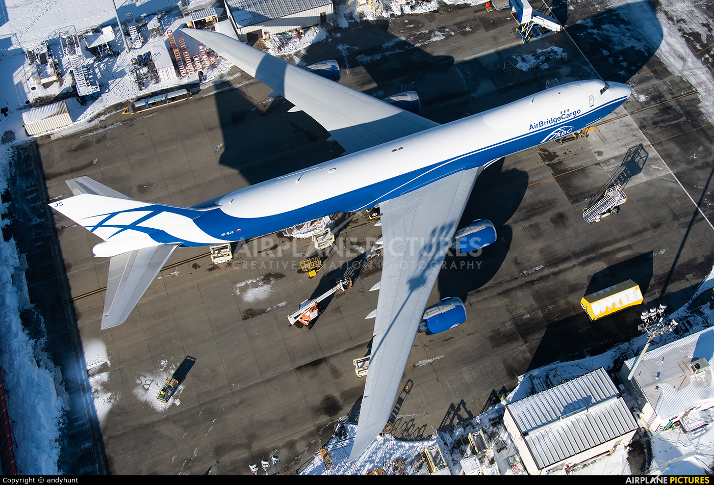 Air Bridge Cargo VP-BJS aircraft at Everett - Snohomish County / Paine Field