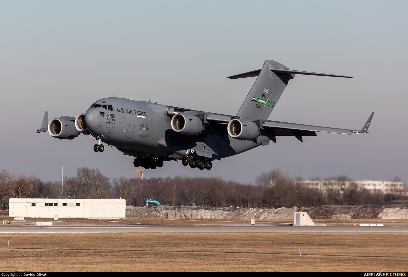 USA - Air Force 08-8201 aircraft at Munich