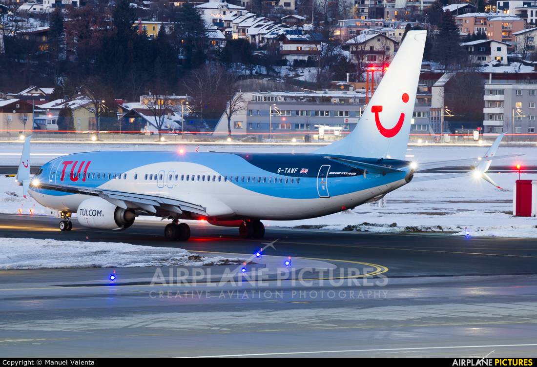TUI Airways G-TAWF aircraft at Innsbruck