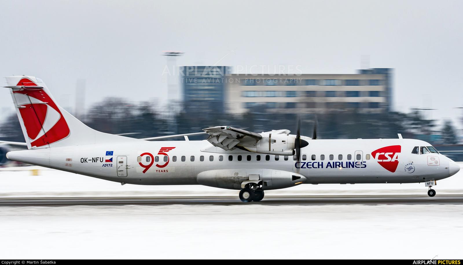 CSA - Czech Airlines OK-NFU aircraft at Prague - Václav Havel