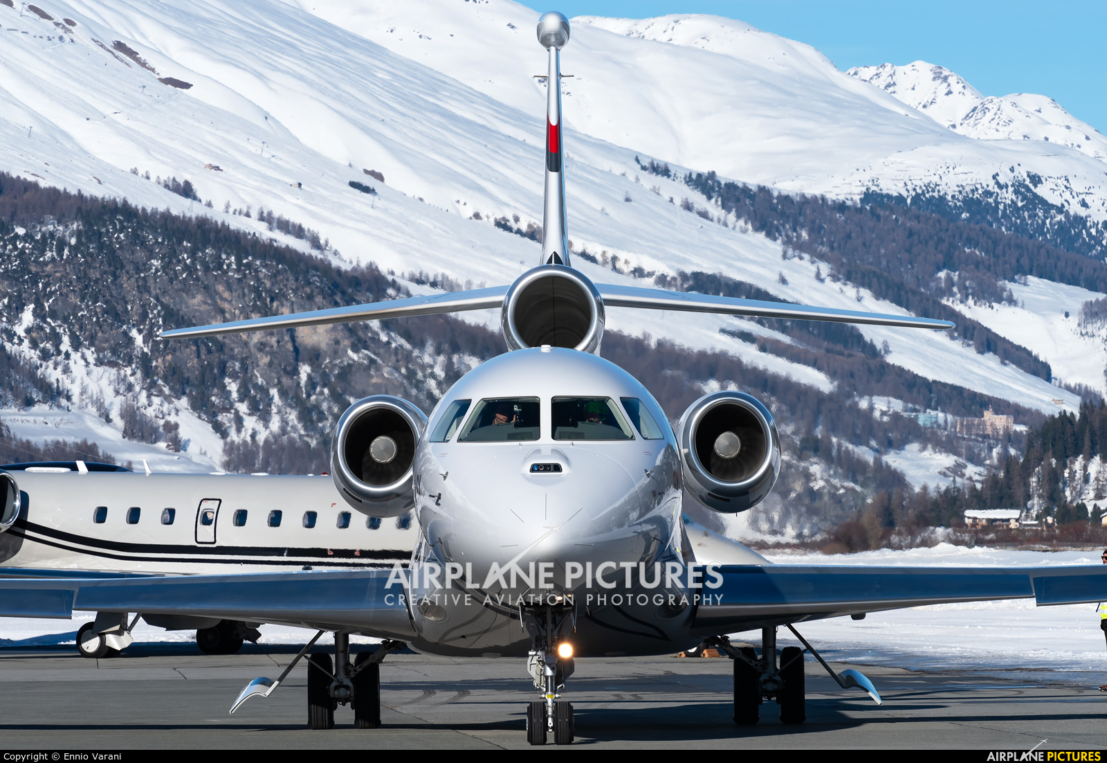 Dassault Aviation F-GCDP aircraft at Samedan - Engadin