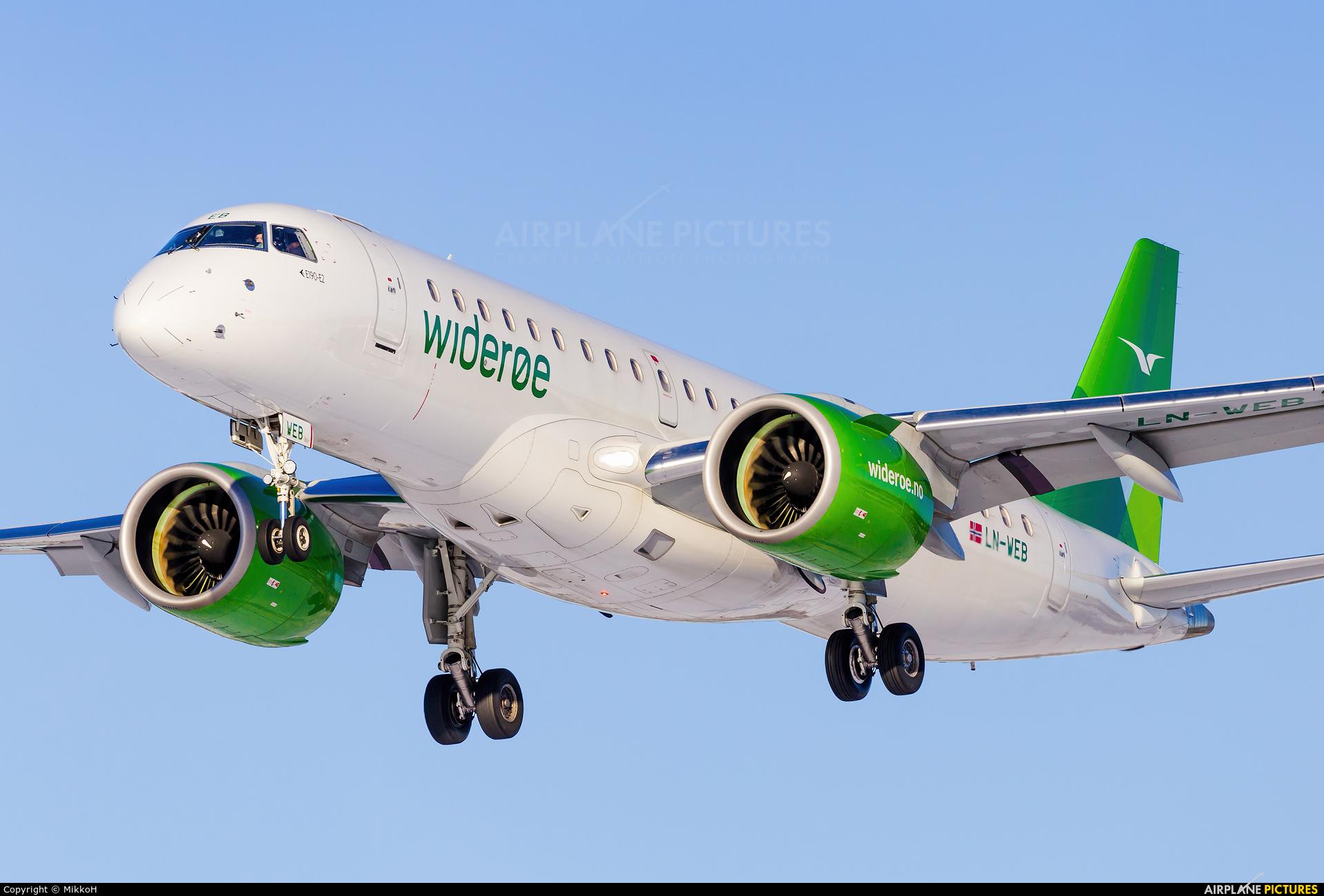 Widerøe LN-WEB aircraft at Helsinki - Vantaa